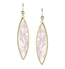 Rose Quartz + Cubic Zirconia Marquise Dangle Earrings