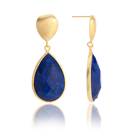 Lapis Teardrop Dangles