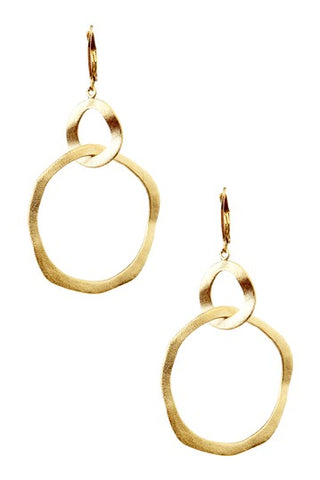 Organic Intertwined Round Dangle Earrings