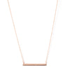 Polished Bar Necklace - Available in Gold, Rose & Rhodium