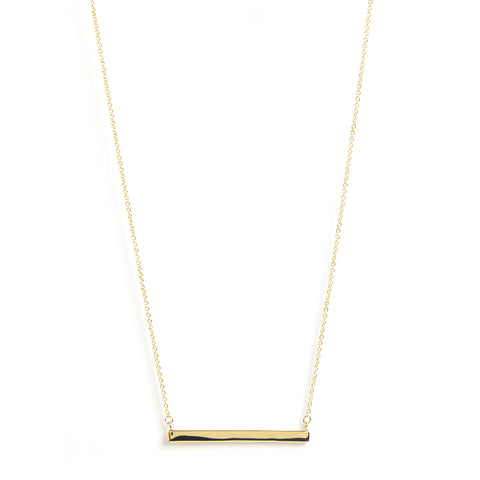 Polished Gold Bar Necklace