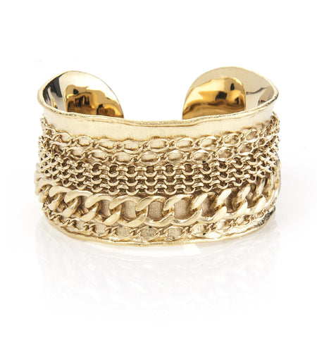 Mixed Chain Accent Cuff
