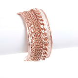 Rose Gold Mixed Chain Accent Cuff