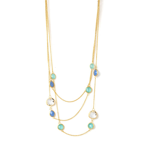 Multi Crystal Layered Necklace