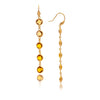 Amber Citrine Multi Gem Drop Earrings