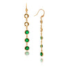 Golden Olive + Emerald Multi Gem Drop Earrings