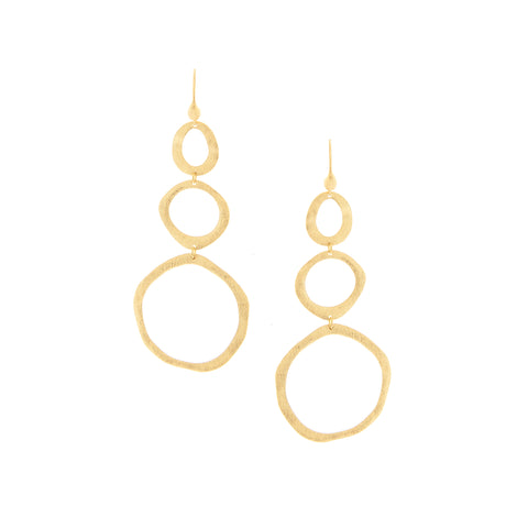 Triple Drop Graduated Round Earrings