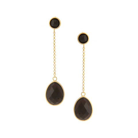 Cascading Onyx Dangle Earrings