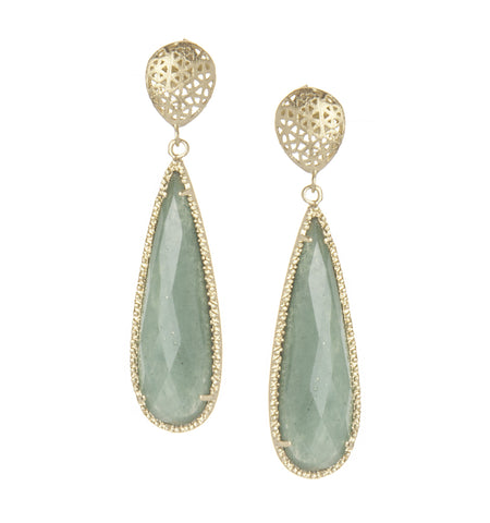 Green Aventurine Dangle Earrings