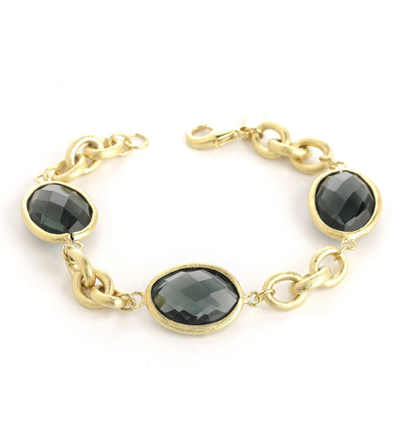 Platinum Grey + Chain Bracelet - Closeout