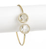 Rock Crystal + Simulated Diamond Bangle