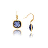 Iolite Cable Cushion Dangle Earrings