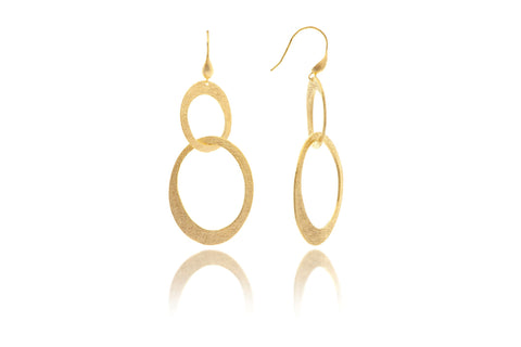 Satin Cascading Oval Earrings