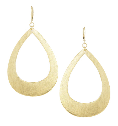 Bold Teardrop Leverback Dangle Earrings