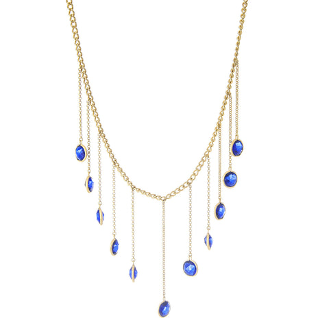 Sapphire Dangle Necklace