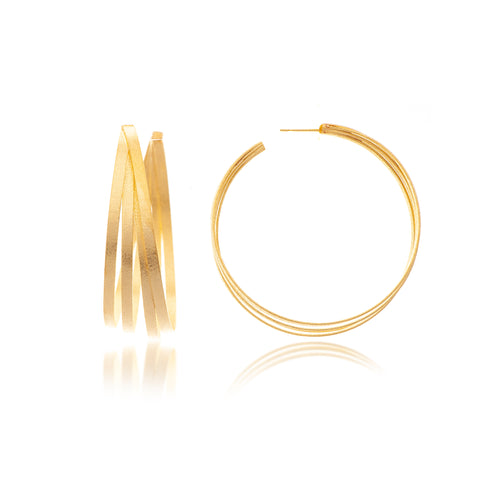 Large Multi Ring Hoop Earrings