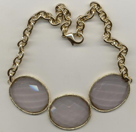 Grey Cat's Eye Doublet Necklace