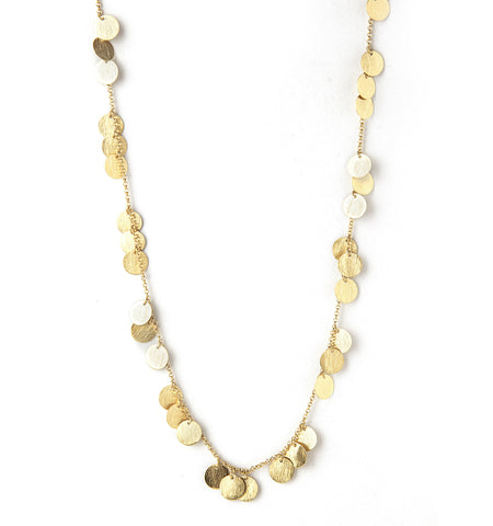 "Statin Multi Disc 36"" Necklace"