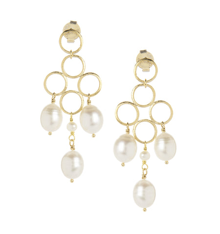 Freshwater Pearl Chandelier Earrings