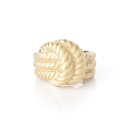 Satin Cable Knot Ring