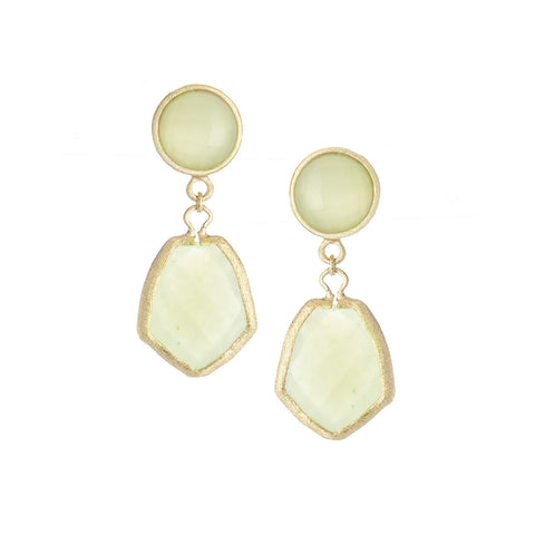 New Jade Double Drop Earrings