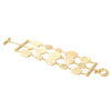 Satin 3 Row Disc Toggle Bracelet