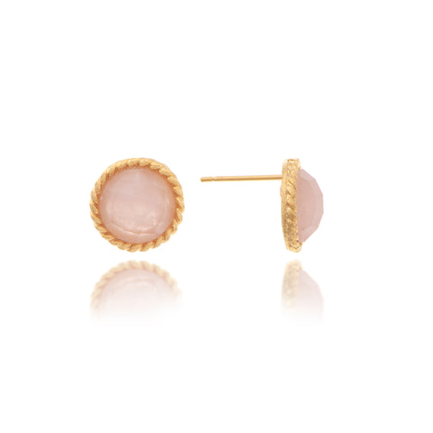 Rose Quartz Cable Stud
