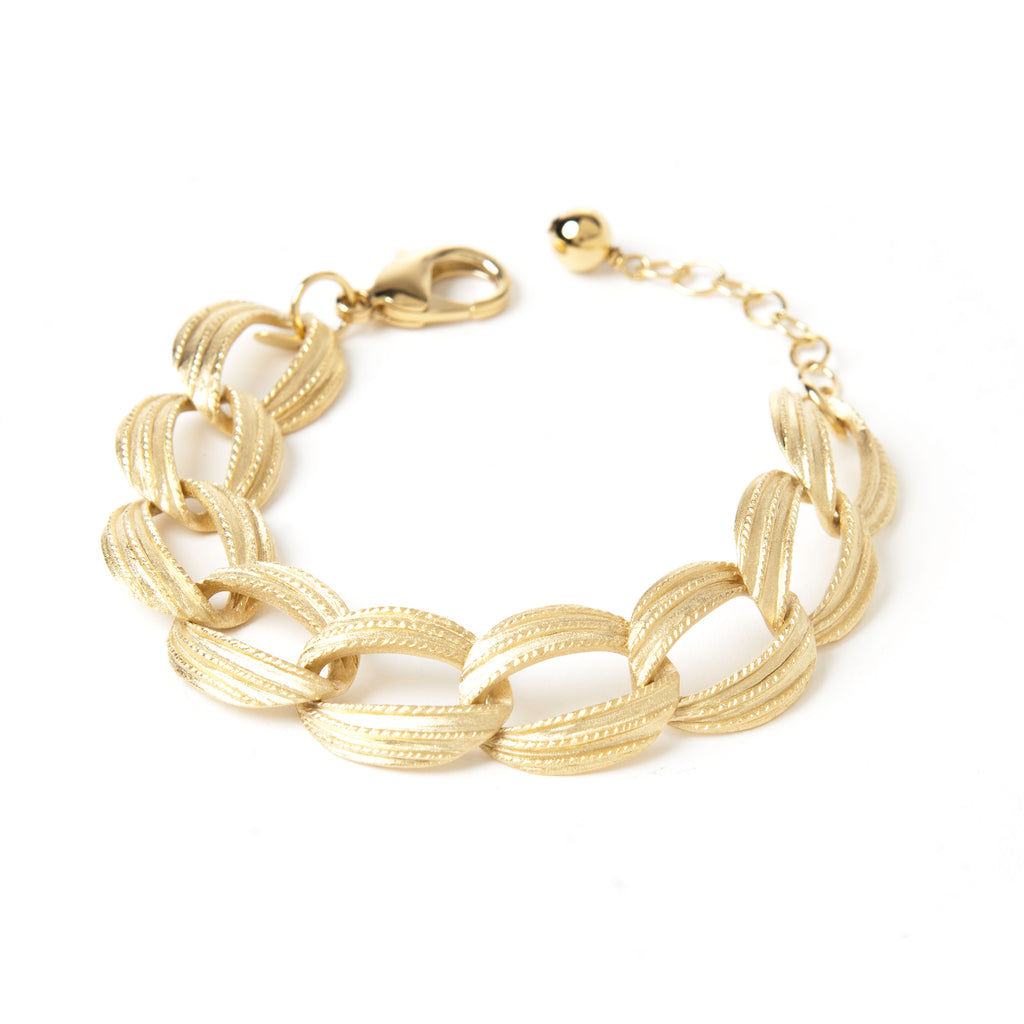 Textured Oval Link Bracelet - Closeout