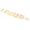Satin Wavy Link 3 Row Toggle Bracelet
