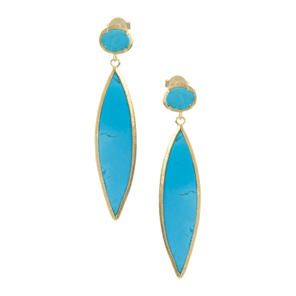 Magnesite Double Drop Earrings