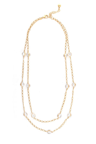 Rock Crystal Double Link Necklace
