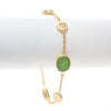Lime Green Druzy Quartz + Satin Disc Station Bracelet