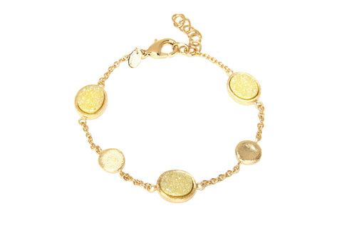 Yellow Durzy Quartz Station Bracelet