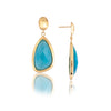 Cat's Eye Sky Blue Drop Earrings