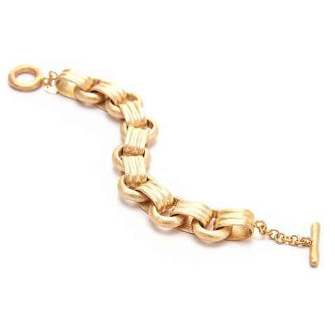 Satin Multi Link Toggle Bracelet