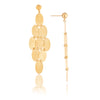 Cascading Disc Drop Earrings