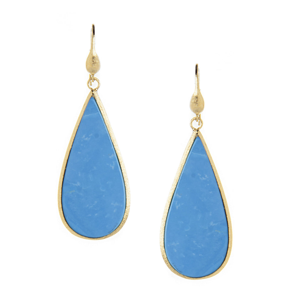 Magnesite Sliced Teardrop Earrings