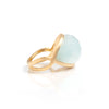 Quartzite Satin East/West Cocktail Ring - Closeout