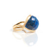 Lapis Satin East - West Cocktail Ring