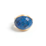 Lapis Satin East/West Cocktail Ring