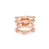 Rose Gold Satin Bamboo Wide Band Ring