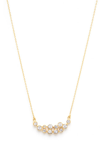 Felix + Lola White Topaz East West Pendant