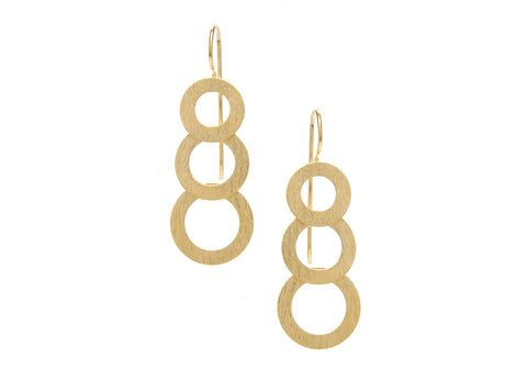 Felix + Lola Multi Ring Drop Earrings - Closeout