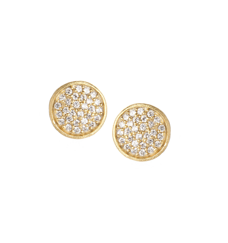 Simulated Diamond Round Stud Earrings