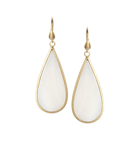 Mother of Pearl Sliced Dangle Earrings