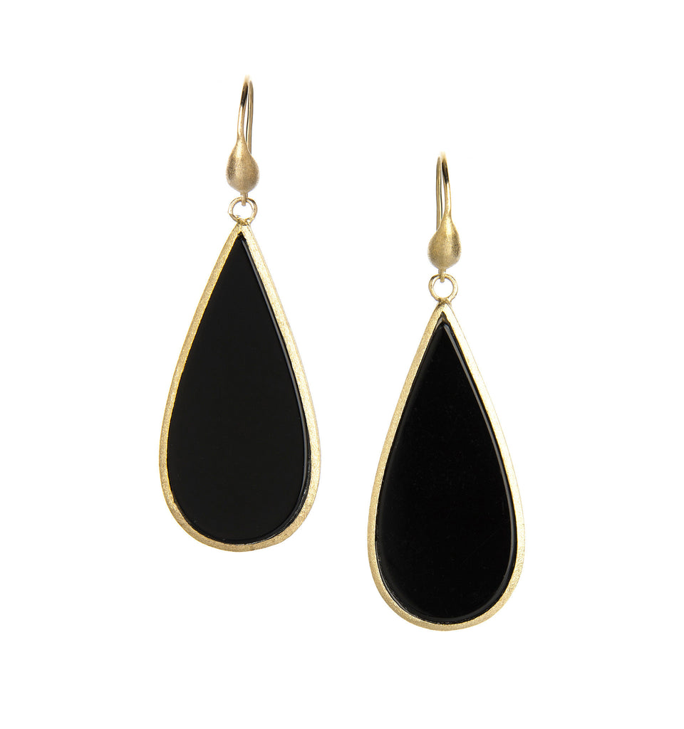Onyx Sliced Dangle Earrings