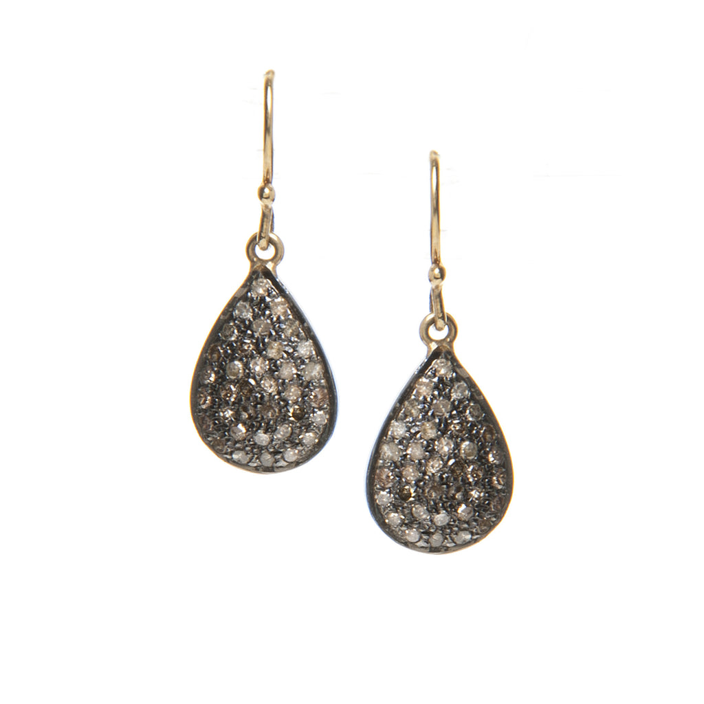Signature Collection Pave Diamond 14K Gold & Sterling Silver Drop Earrings