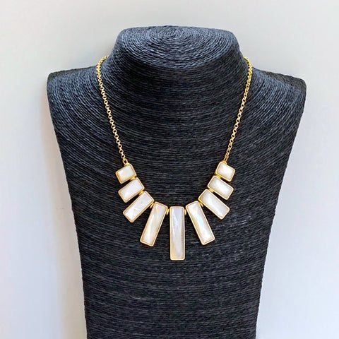 Mother of Pearl Statement Necklace - Closeout