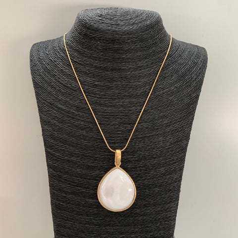 Mother of Pearl Pendant Necklace - Closeout