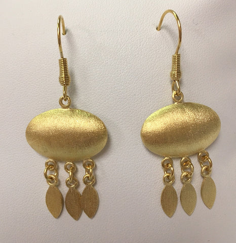 Satin Oval Drop Earrings - Closeout